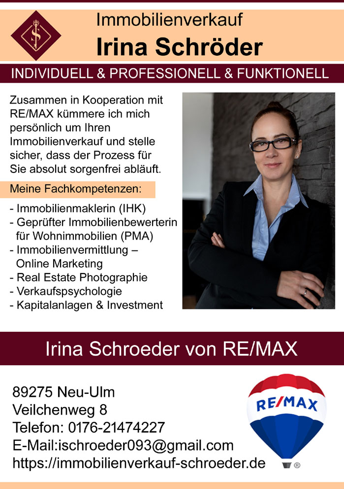 Immobilienverkauf  Irina Schroeder