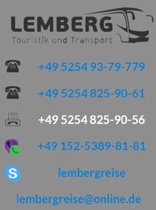 Lemberg Touristik und Transport! В Украину на автобусе!