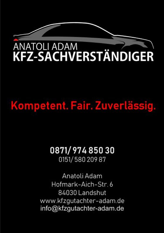 ANATOLI ADAM  KFZ-SACHVERSTANDIGER
